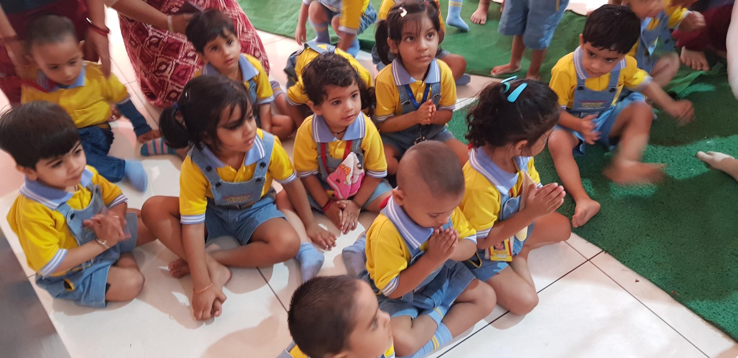 children playing in play school